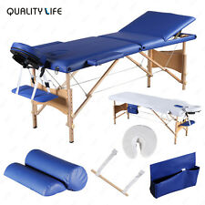 3 Fold Portable Facial SPA Bed Massage Table Sheet+2 Bolsters+Cradle+Hanger