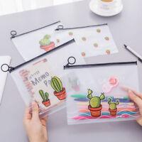 Student Pencil Pen Case Cosmetic Pouch Pocket Brush Holder Makeup Storage Bag