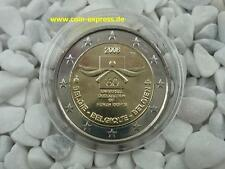 *** 2 EURO Gedenkmünze BELGIEN 2008 Menschenrechte Belgium Coin KMS Münze ***