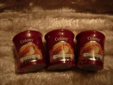 Colony Candles 3 x Mulled Wine Christmas Votive Candles NEW