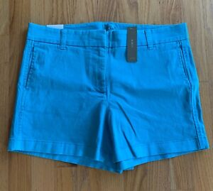 J Crew NWT Women's 4' Stretch Chino Short Aqua Sea size 6 $49.50 #H5806 Retail