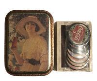 Vintage Tin, Coca-Cola 1993 Complete Set of Trading Cards 1-100 + 8 Coke Caps