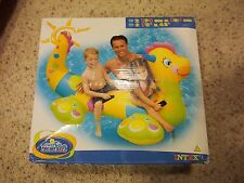 "Intex Happy Dragon 2 Person Ride On Inflatable Pool Toy 78"" X 42"" Wet Set Sealed"