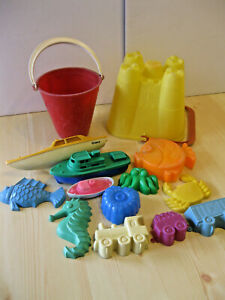 True Vintage Sand Play Toys from England Pails& More 14 Items VGC Fast Shipping