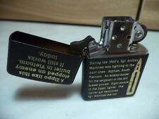 ZIPPO ACCENDINO LIGHTER CATCHING A BULLET VIETNAM NUOVO NEW