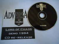 LORD OF CHAOS ADVERSARY US VINTAGE 1994 WILD RAGS RECORDS CD NEW B19 DEMO