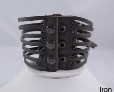 Linea Pelle Wide Multi Strand W/ Gunmetal Chain Iron
