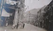 ANTIQUE 1920s SHANGHAI CHINA MONEY DOLLAR CHANGER TRADE SIGN STREET SCENE PHOTO