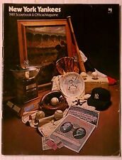 NEW YORK YANKEES 1981 SCOREBOOK & MAGAZINE VINTAGE PROGRAM SOUVENIR MLB