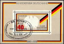 BRD 1974: 25-Jahre-BRD-Block Nr. 10 mit SSt. Bonn! 1A! 1702