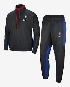 Nike NBA Team 31 Courtside Tracksuit Men's Black Rush Blue University Red Suit