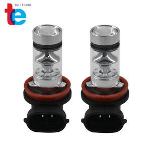 2x H8 H9 H11 H16 10000K Deep Blue 100W LED Headlight Bulb Kit Fog Light