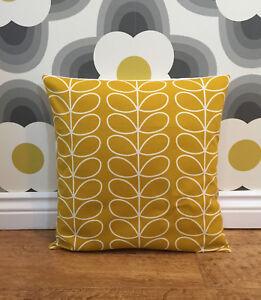 "Orla Dandelion Stem Mustard Cushion Cover 14"" 16"" 17"" or 18"" inch"