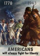 WW2 World War 2 USA Propaganda Recruitment poster print Fight for Liberty