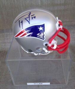 Ty Law  New England Patriots Signed Mini Helmet
