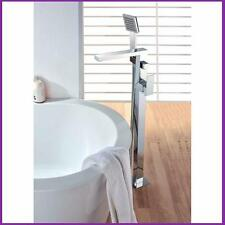 Watermark Modern Free Standing Bath Spout Mixer Tap With Shower Handheld