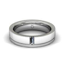 Baguette Very Good Cut White Gold Fine Diamond Rings