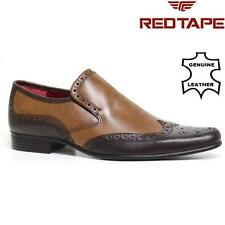 Mens Red Tape Leather Shoes Smart Office Wedding Formal Party Gatsby Shoes Size