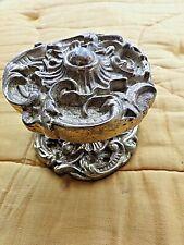 Ancienne grosse poignée ronde de porte d'entrée en bronze style Art-Nouveau