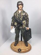 1/6 DRAGON USMC MARINE SGT TANK COMMANDER+OAK STAND GREASE GUN WW2 DID BBI