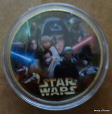STAR WARS      24K GOLD plated coin  40 mm  #18 S
