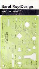 Berol® Rapidesign® Template: R-311 Electronic Symbols