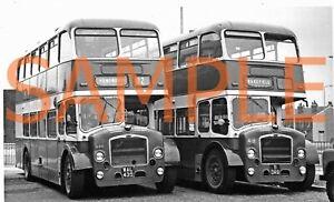 B/W Photo West Riding Bristol LD / ECW  WAL 439 - 420 & 11 DRB 418 Ex Mans & MG