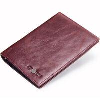 Genuine Leather Passport Holder Case Credit Card Travel Wallet Men & Women Purse