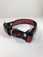 Buckle Down Deadpool Dog Collar Large 15-26 inch X-Men Nylon Marvel NEW
