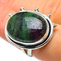 Ruby Zoisite 925 Sterling Silver Ring Size 7.5 Ana Co Jewelry R33339F