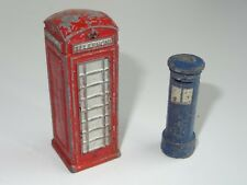 (W) dinky Airmail Box & Telephone Box - 12B avant guerre/750