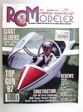 Radio Contrôle Modeleur Magazine November 1992 Anglais Modélisme