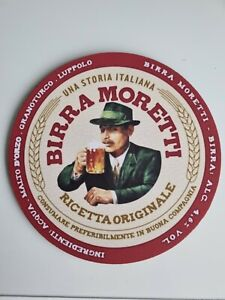 BIRRA MORETTI  REUSABLE 20cm Diameter NEOPRENE Drink Mat /Mouse Mat 003
