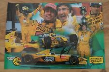 Damon Hill Personally Autographed Signed Poster Collage Eddie Jordan F1 Team
