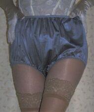 Vintage style dark silver silky nylon gusset briefs knickers panties  ex large