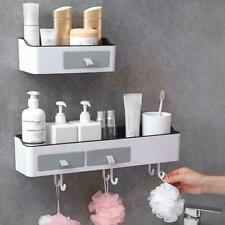 1*Kitchen Wall Shelves Bathroom Corner Shelf Wall Mounted Hole Storage Free F8Q9