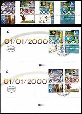 Israel 2000 Stamps + FDC's THE MILLENIUM'. MNH + RIGHT TABS. (Very Nice).