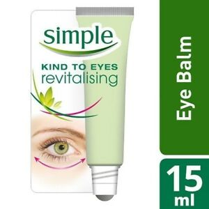 NEW Simple Kind to Eyes Revitalising Eye Roll-On 15ml / Fast Free Delivery