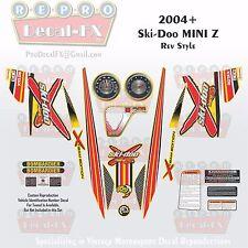 2004+ Ski-Doo Mini Z Rev Style Full Graphics Reproduction 26 Pieces Vinyl Decals