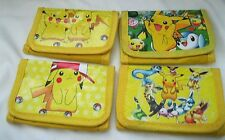 "4 Different Pokemon Pikachu Unisex Kid's Adult Wallets 4.5"" L x 3"" W-Set of 4!"