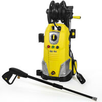 2000PSI 1.7 gpm Electric Pressure Washer Quick Nozzle Hose Reel Soap Dispenser