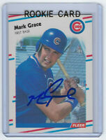 1988 CUBS Mark Grace signed ROOKIE card Fleer Update #U-77 AUTO RC Autographed