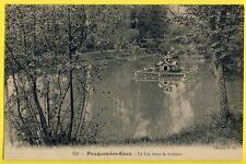 cpa 58 - POUGUES les EAUX (Nièvre) Le LAC dans la Verdure COLOMBIER sur l'Eau