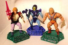 Masters of the Universe vintage motu 1982 stands display set of 3