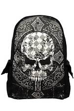 Banned Apparel Skull Cross Gothic Punk Rock Occult Tattoo Backpack Bag BBN763BLK