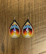 "Native American Style 2"" Long Beaded Earrings"