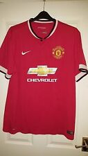 Mens Football Shirt - Manchester United - Home 2014-2015 - Nike - XL - Chevrolet