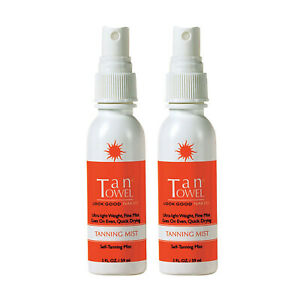 Tan Towel Tanning Mist - This Easy-to-use Self-tanner 2 Oz Set of 2