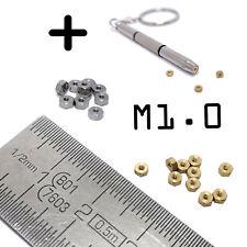 Écrous Miniature M1.0 Laiton 10/20 Pcs Maquettisme Détails 1/8 1/12  + Clé 2.5mm