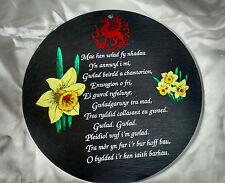 "9"" welsh slate plaque - WELSH NATIONAL ANTHEM cymru wales angrheg cymraeg GIFT"